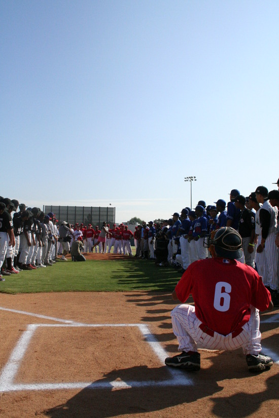 1st Pitch at the 2008 World Series at the Urban Youth Academy