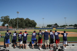 2008 RBI World Series - Day 2 - Twin Cities Seniors look on