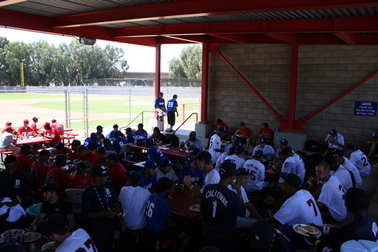 2008 RBI World Series - Day 2 - Eating Lunch