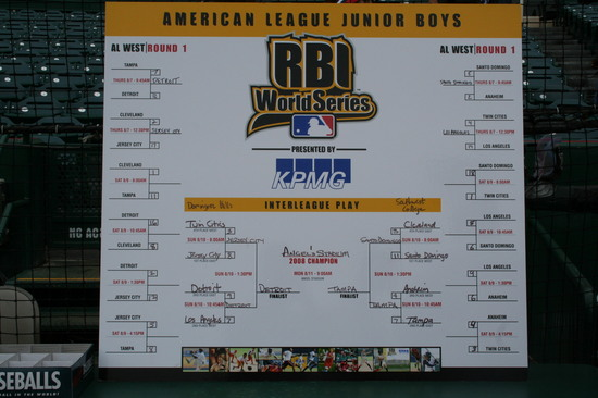 2008 RBI World Series - Day 5 - Championship Game Juniors - Bracket