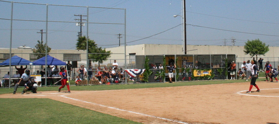 RBI World Series 2008 - Softball Championship - Swinging at pitch