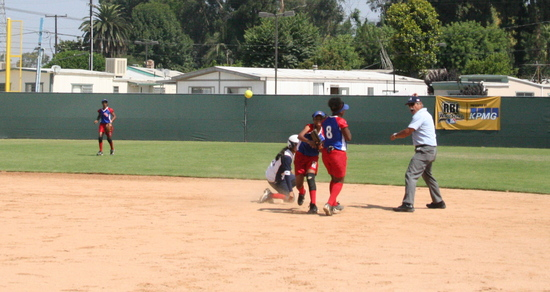 RBI World Series 2008 - Softball Championship - throw to first 2