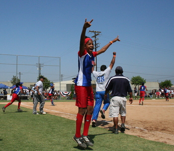 RBI World Series 2008 - Softball Championship - Jumping for Joy