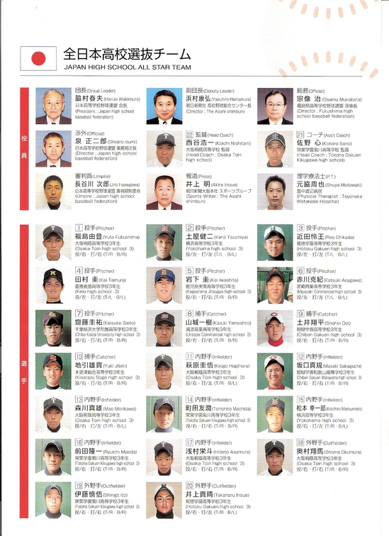 Japan trip Roster, Side one