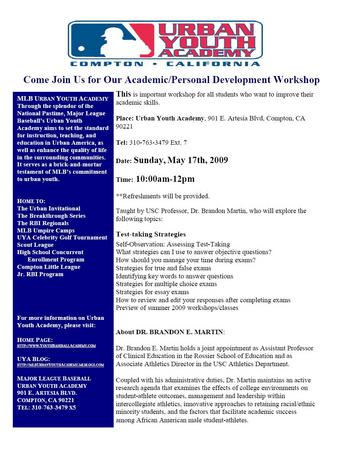 Thumbnail image for College Workshop Flier - May 17th 2009.JPG