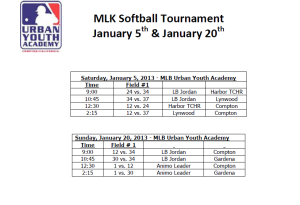 MLK Softball