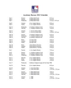 Barons 2013 Schedule
