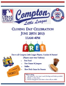 Compton Little League Closing Day Celebration